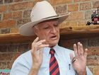 Australian Party leader Bob Katter appears to have written his candidate's name, Gordon Dale, on his hand but claims it actually says Gordon Dole.